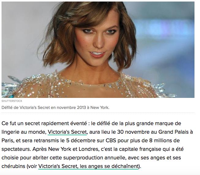 Huffpost – Le défilé Victoria's Secret à Paris, symbole de l'attractivité française